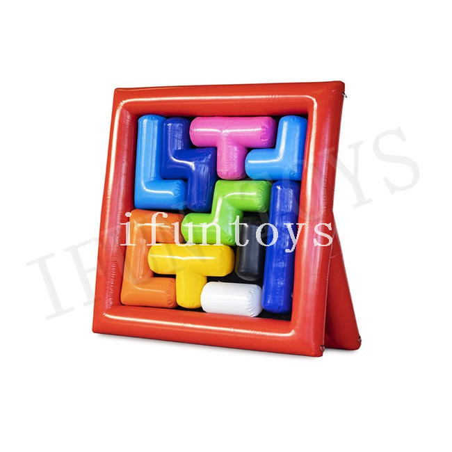 Funny Inflatable Tetris Game / Jigsaw Puzzle Inflatable Team Building Game for Event