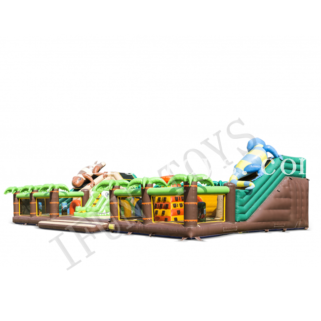 Jungle World Inflatable Bouncer Trampoline Inflatable Fun City / Inflatable Outdoor Playground for Children