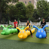 6 person school Inflatable jumping or walking Caterpillar tube or race team buidling games for corporate events