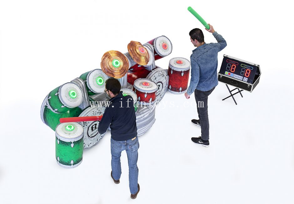 Inflatable Battle Light Beats Drum Set with IPS /Interactive Inflatable IPS Drums/Inflatable Disco Drums/ EZ Beat Drum Game