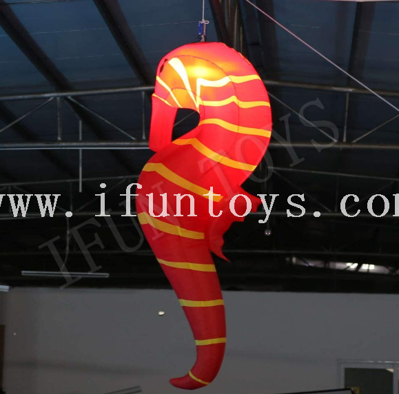 LED Inflatable Seahorse Decorations with Remote Controller and Inner Air Blower for Party