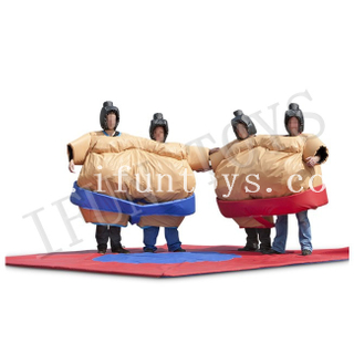 Team Building Inflatable Twin Sumo Suit / Foam Padded Sumo Suits / Inflatable Sumo Wrestling Game