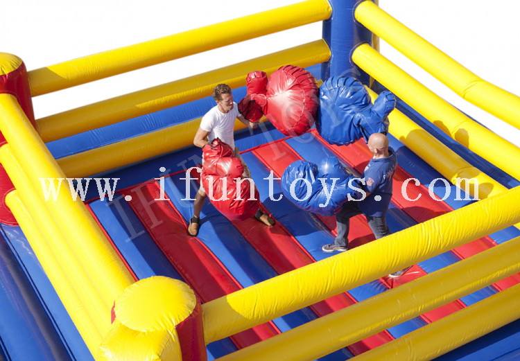 Inflatable Boxing Ring / Wrestling Ring / Boxing Fight Sport Arena with Boxing Gloves for Adults
