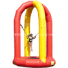 Outdoor sky jump inflatable bungee trampoline jumping mattress extreme sport games for kids and adults