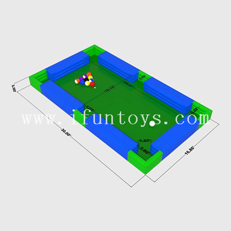 Giant Inflatable Human Soccer Billiard / pool ball Table/ Snooker ball Games for party