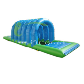 Water park games inflatable floating bridge /inflatable water obstacle course for pool