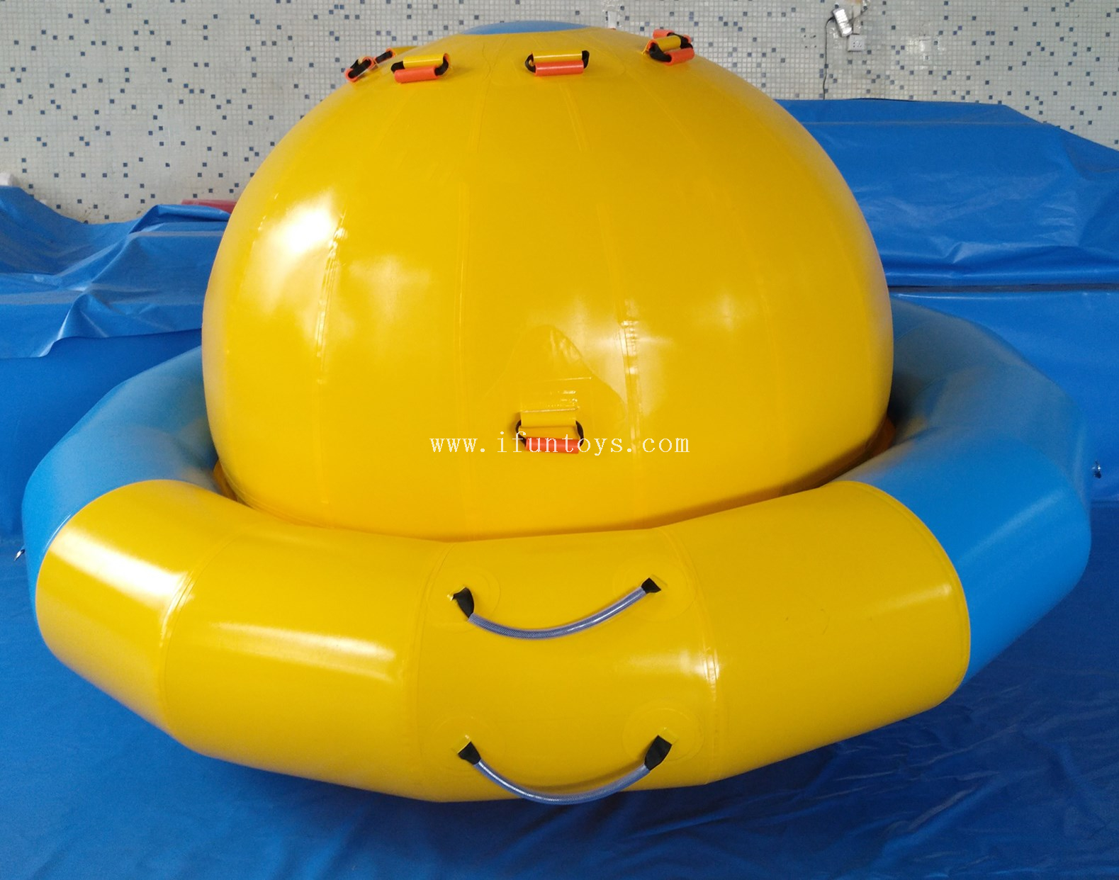 Aqua floating water toys Inflatable water towable disco boat /inflatable water saturn for sale