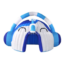Inflatable Headset Dome Tent / Inflatable Event Tent / Headphone Shape Outdoor Inflatable Advertising Tent