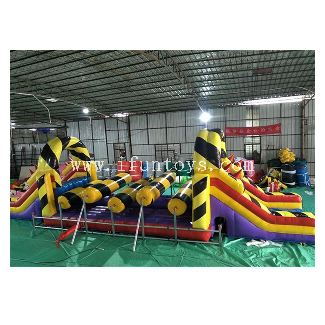 2019 Newest Rush Extreme Inflatable Obstacle Course/ Inflatable Rolling Obstacle Challenge Game / Inflatable Obstacle Course Races for Adults