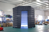 Commercial led inflatable hexagon photobooth tent/inflatable photo booth enclosure /inflatable photobooth background