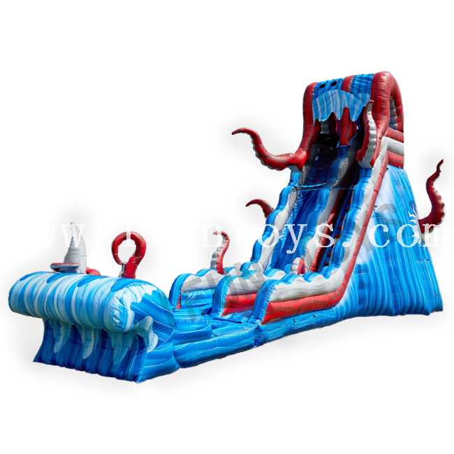 Inflatable Kraken Water Slide With Pool / Wet Slide for Adults And Kids