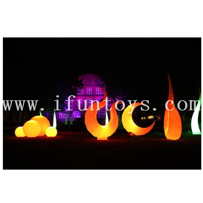 LED Inflatable Curved Luna Balloon/ Inflatable Lighting Moon/inflatable moon model for Party &event Decoration
