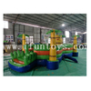 Outdoor Inflatable Jungle Amusement Park / Plam Tree Fun City / Inflatable Kids Playground with Climb Mountain