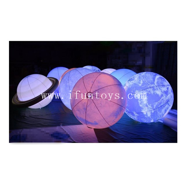 LED Lighting Inflatable Nine Planets Model / Hanging Inflatable Planet Ball for School Exhibition