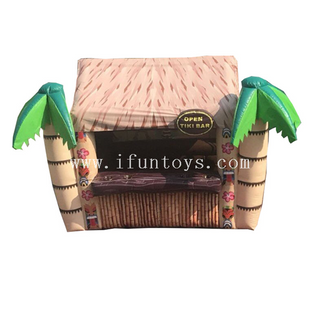 Outdoor inflatable Tiki hut bar/inflatable beach bar tent /inflatable serving bar for rental&sale
