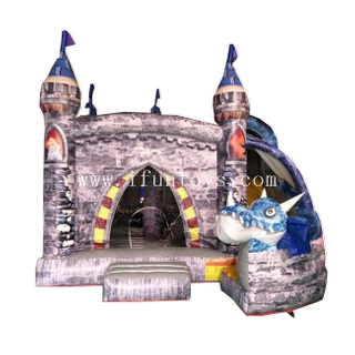 Inflatable Dinosaur Bouncy Castle / Inflatable Jumping Castle / dragon age Bouncer Slide Combo for Kids
