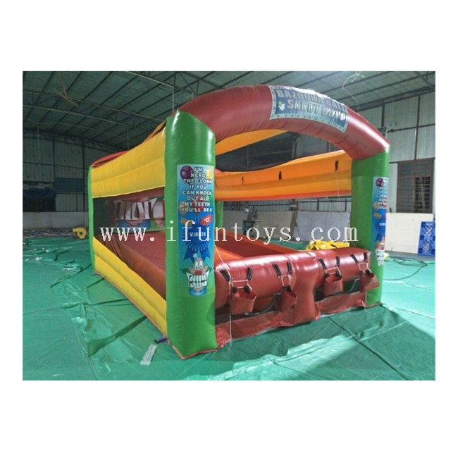 Inflatable Bazooka Ball Shoot Out / Inflatable Zombie Shootout/ Inflatable Tooth Knock Out Game for Kids And Adults