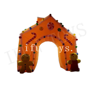 Airblow Inflatable Gingerbread House Archway / Christmas Inflatable Archway for Sale