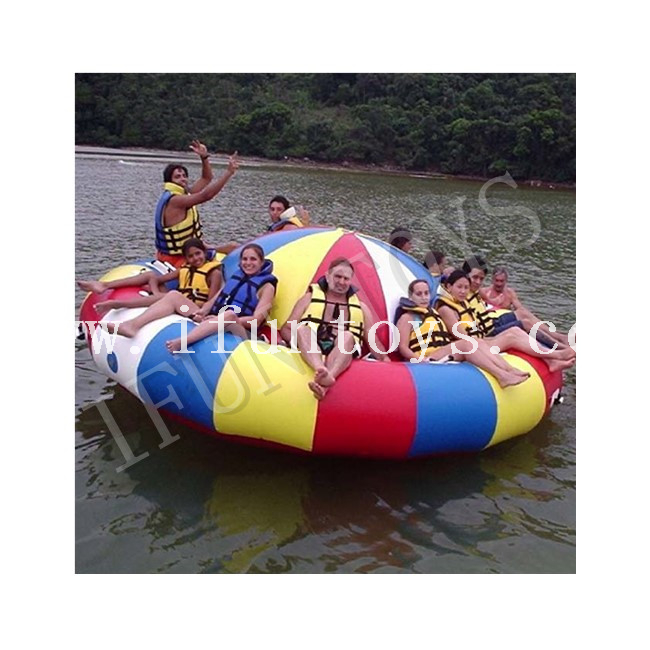 Inflatable Disco Boat Towable / Floating Spinning Boat for Water Game