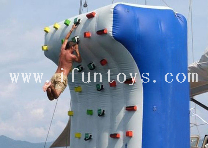 Commercial inflatable Yacht boat climbing wall / inflatable water climb rock wall for sea&lake