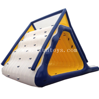 Water Park Inflatable Floating Slide Climbing Combo/ Summit Express Inflatable Water Slide for sale