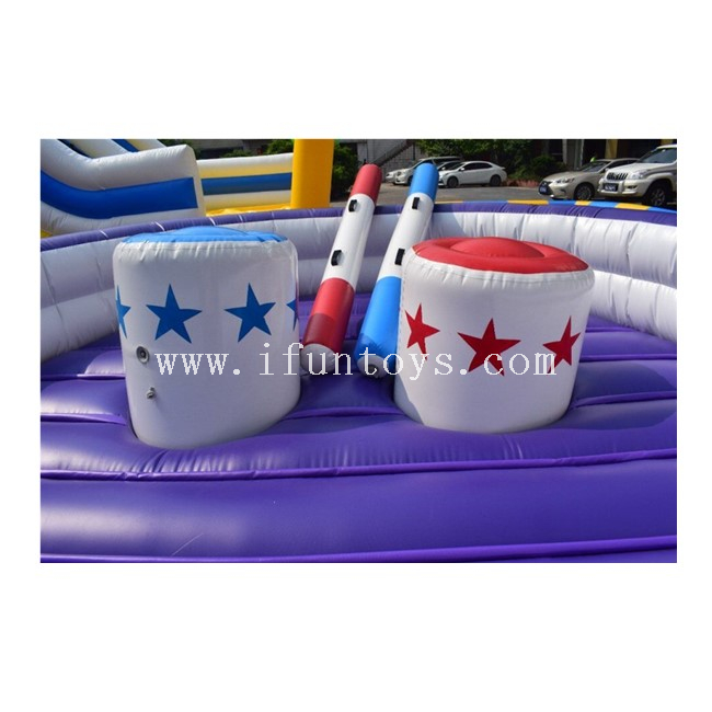 Outdoor Inflatable Jousting Gladiator Arena / Inflatable Jousting Ring Fighting Arena with Sticks