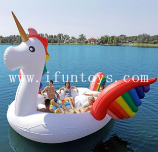 Unicorn Inflatable Floating Island / Pool Inflatable Unicorn Boat