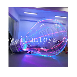 Giant Inflatable Bulb Model / Transparent Inflatable LED Light Bulb for Advertising Decoration