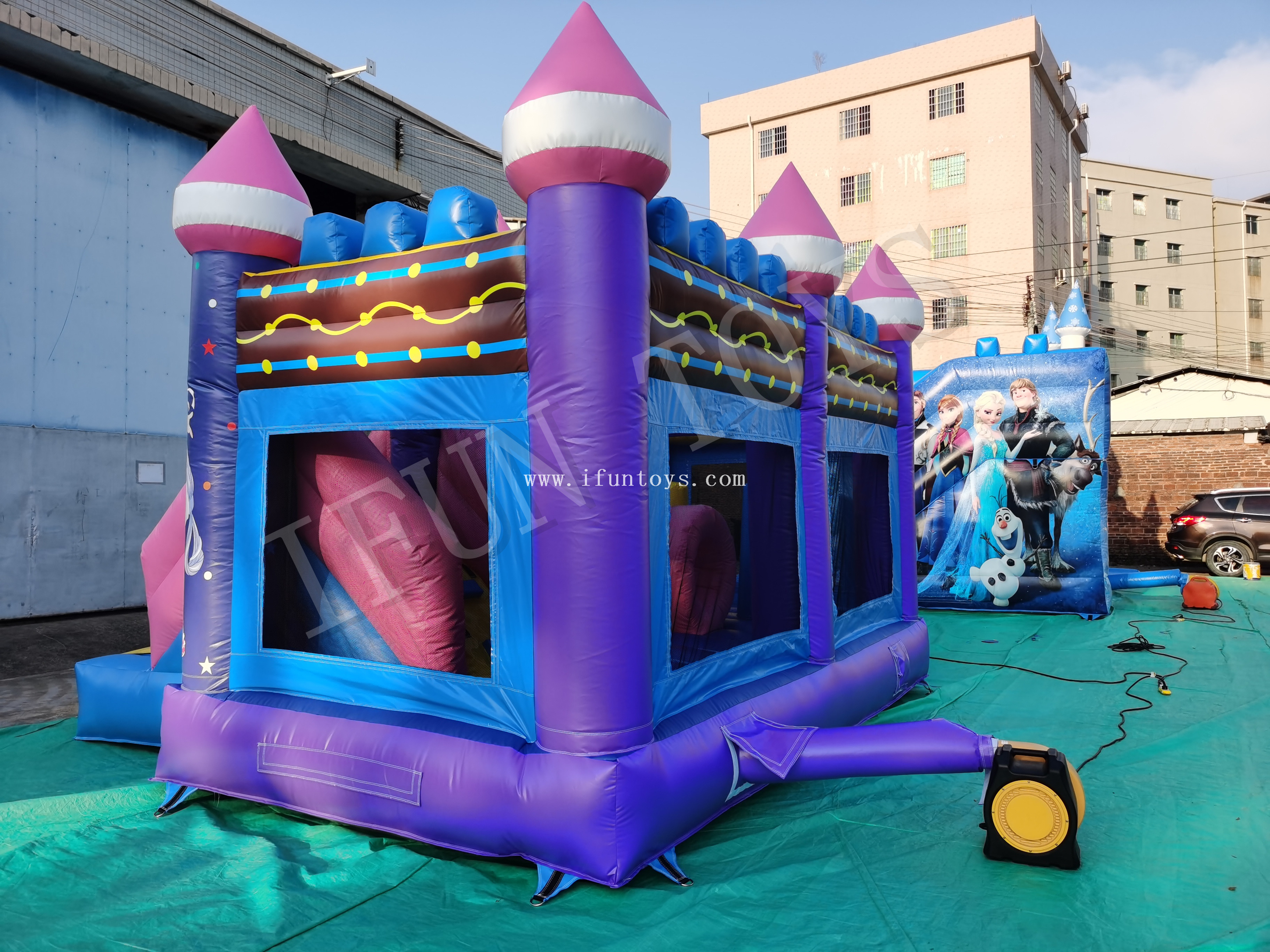 Outdoor Inflatable Bouncy Castle / Inflatable Party Bouncy House Combo for Kids