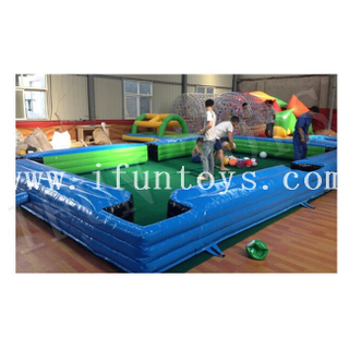 Inflatable Human Billiards / Foot Pool Table / Snooker Football Field for Sport Game