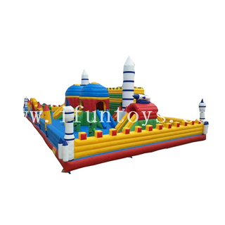 Inflatable rocket theme Playground/ Giant Inflatable Bouncy Castle With Funny Obstacle/inflatable fun city for Amusement Park