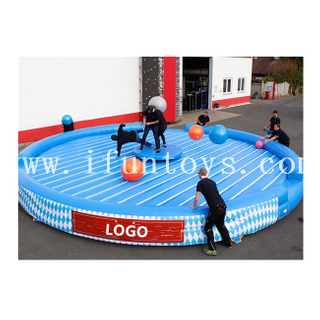 Interactive Inflatable Devil's Wheel / Inflatable Breakdance Sport Game for Kids And Adults