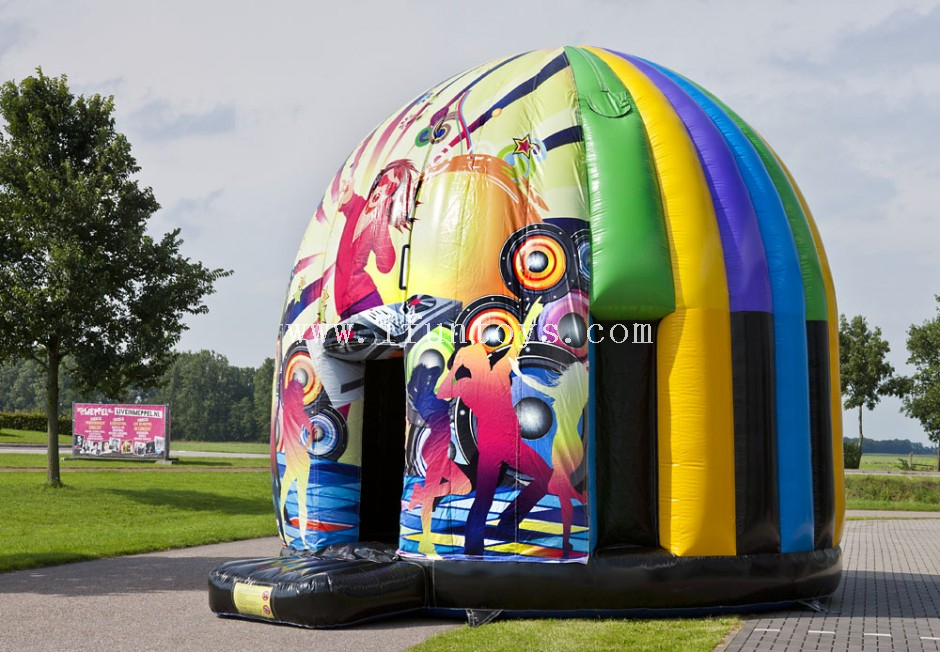 Music customized dancing Disco Dome Inflatable Bounce House Inflatable Disco dome jumping castle