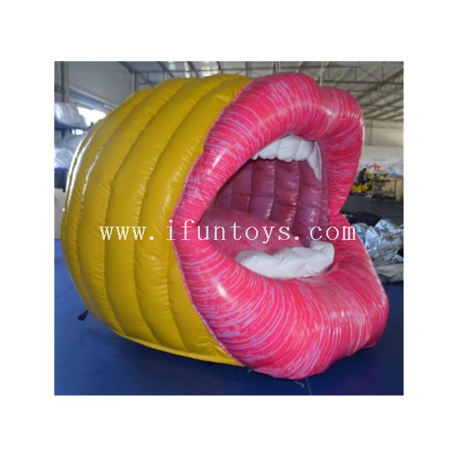 Stage decoraiton Big Inflatable Mouth Model / Red Inflatable Lip for Concert/Party Show/Event