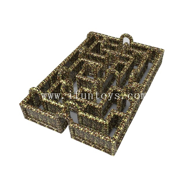 Inflatable Camouflage Obstacle Maze /Inflatable Military Maze /Inflatable Military Maze Game for Adults And Kids