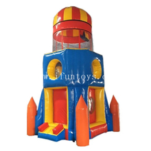 Interactive Inflatable Airborne Adventure/Inflatable Pressure Rocket Game /Inflatable Parachute Sports Game for Kids And Adults