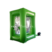 China inflatable money booth cash cube vault money blowing machine for sale