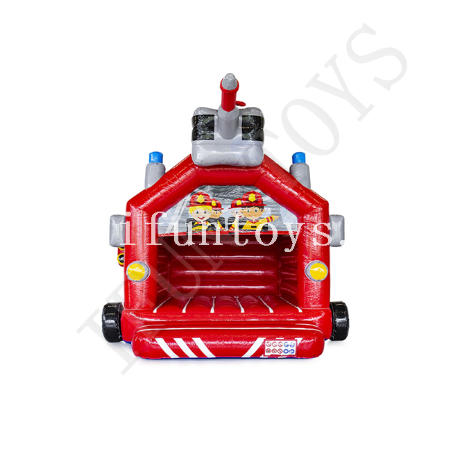 Cheap Inflatable Fire Truck Bounce House / Kids Inflatable Jumping Castle for Sale