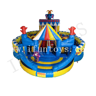 Birthday Party Theme Inflatable Funcity / Inflatable Slide Combo Playground/Amusement Park for Kids