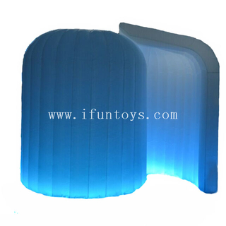 Cheap LED lighting inflatable air photo booth enclosure / party igloo inflatable booth for photo kiosk
