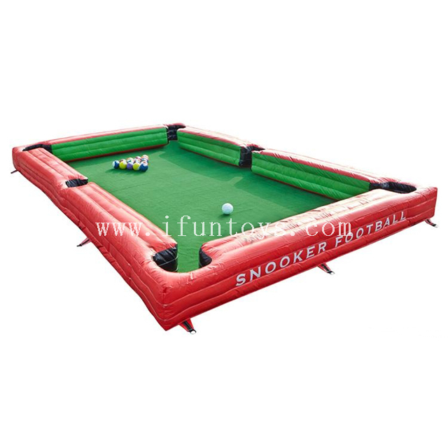 Giant Portable Inflatable Human Soccer Billiard / Foot Pool / Pool Ball Table/ Snooker Football Games for Kids