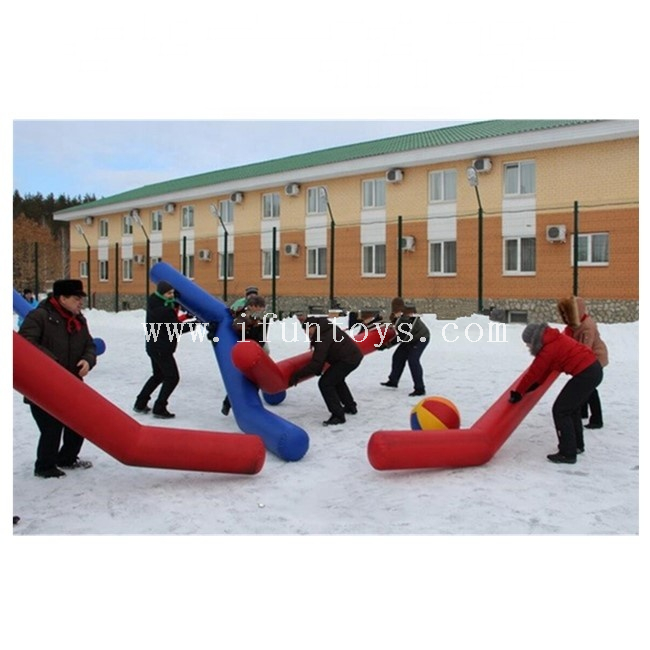 Giant Inflatable Ice Hockey Stick,Team Building Inflatable Hockey Stick Games for Kids And Adults