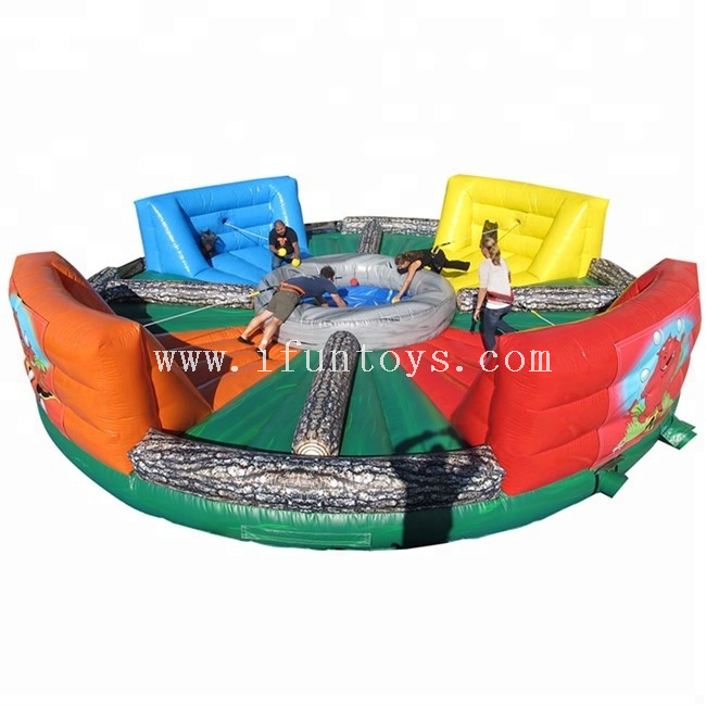 Interactive Inflatable Human Hungry Hippo Bungee Game/Inflatable Bungees Running Sports for 4players