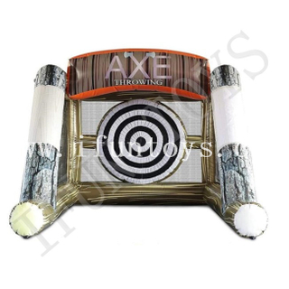 Inflatable Axe Throwing Game / Carnival Inflatable Targeting game
