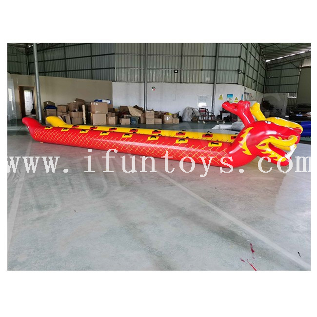 Team Building Inflatable Sport Game Inflatable dry Dragon Boat Racing Game for Group Work