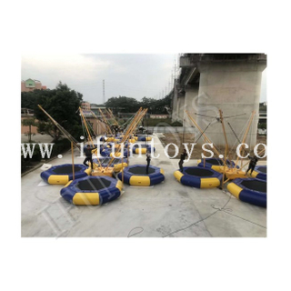 Popular 4 in 1 Inflatable Bungee Jumping Trampoline for Amusement Park