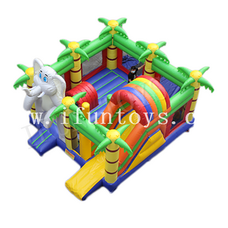 Inflatable Elephant Bouncer Castle / Kids Jumping Playground / Inflatable Fun City for Sale