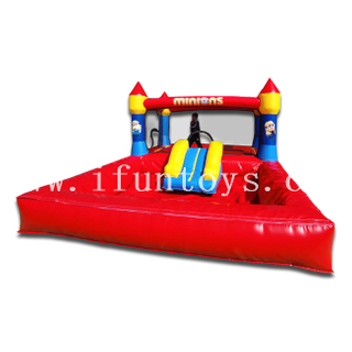 Minions Inflatable Bounce House Castle Jumper Moonwalk Jumping Trampoline with Ocean Ball Pool for Toddler