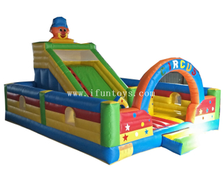 Outdoor inflatable clown fun city/Inflatable clown playground/inflatable Circus jumping castle for kids