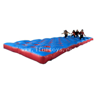 Interactive Inflatable Mattress Run Game / Obstacle Mat Sport Course for Sale